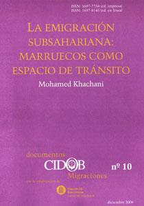La emigracion subsahariana : Marueccos como espacio de transito